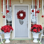 christmas door locks decorations